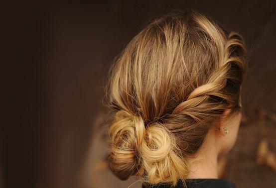 Peinado semi-trenzado novias 2013