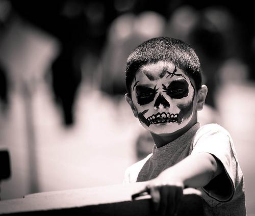 Maquillaje de la muerte niños Haloween