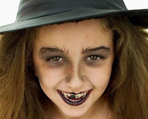 Como maquillar niña bruja Haloween