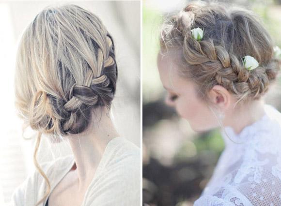 Trenza novias con flores naturales novias 2013
