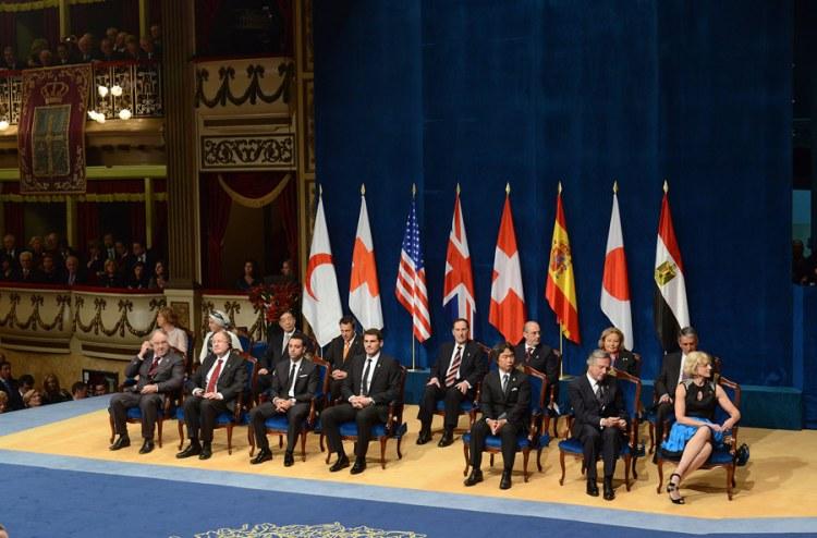 Banderas Premiados Premios Príncipes de Asturias
