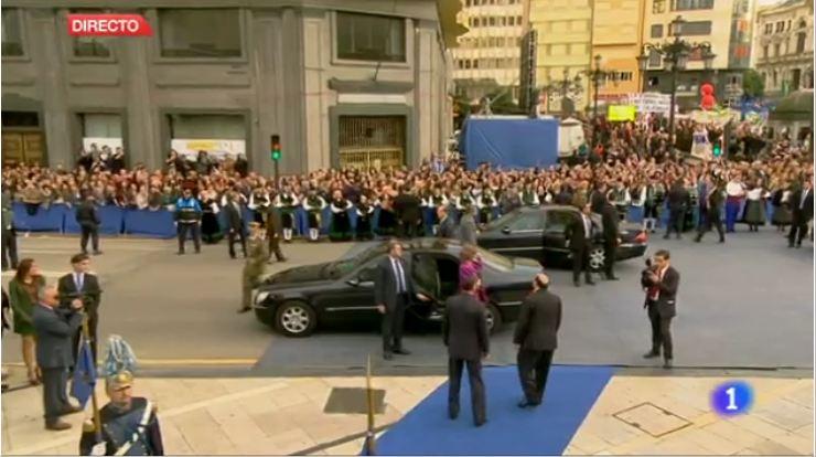Llegada Premios Príncipes de Asturias