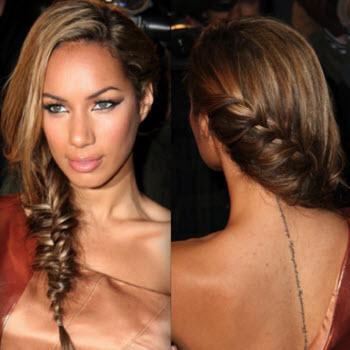 Peinado trenza semi-deshecha tendencia 2013