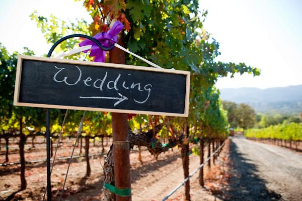 Señalización bodas con pizarras