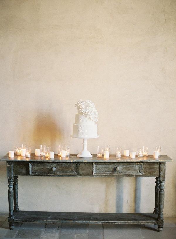 Tarta Fondant en blanco para bodas