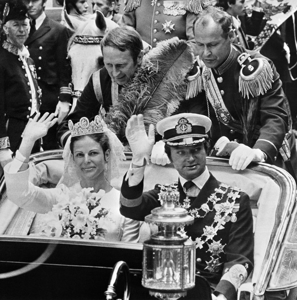 Boda Carlos XVI Gustavo y Silvia de Suecia