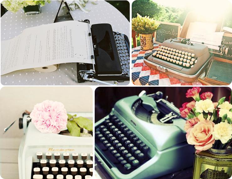 mensajes invitados bodas wedding planner sevilla máquina de escribir