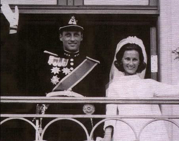 Boda Harald y Sonia de Noruega