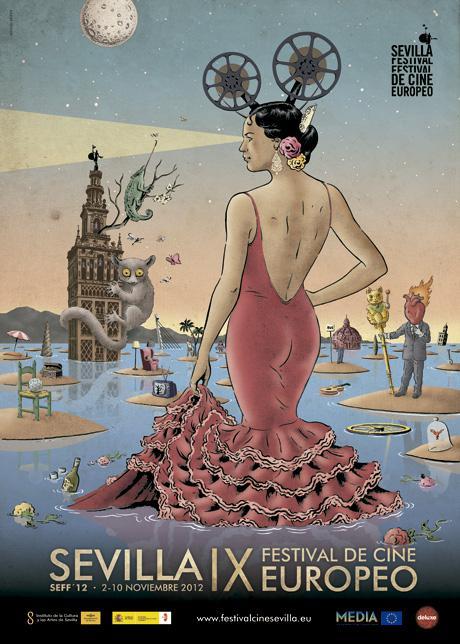Miguel Brieva firma el cartel de Sevilla Festival de Cine Europeo en su IX Edición