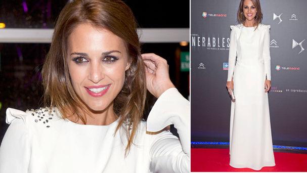 Paula Echevarria y su vestido blanco impoluto