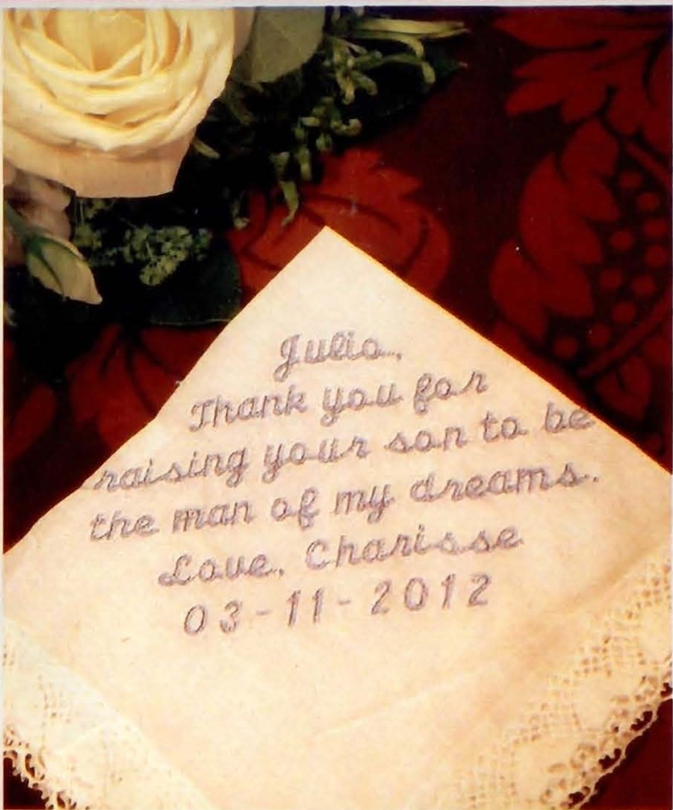 Servilletas personalizadas en boda Julio Iglesias
