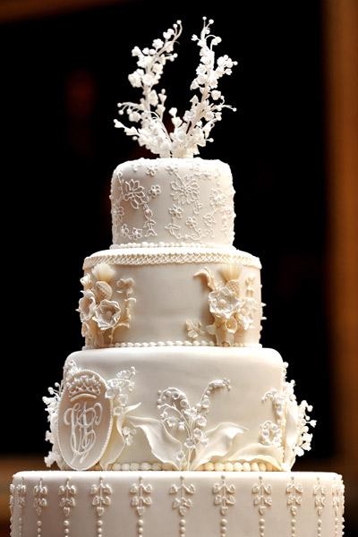 Tarta nupcial de Kate Middleton y Guillermo de Inglaterra elaborada por Fiona Cairns y su equipo.