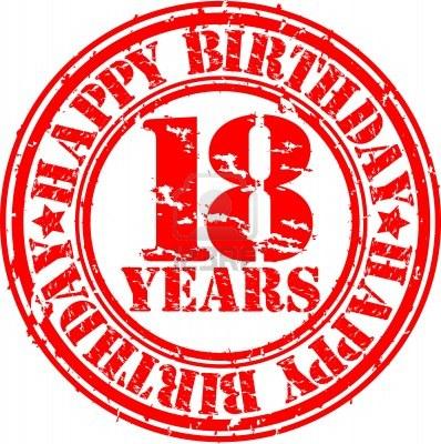 13610831 grunge 18 anos feliz cumpleanos sello de goma - Photocall cumpleanos 18 anos ...