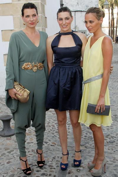 Alejandra, Eugenia y Claudia Ortiz en la Boda de Mercedes Bohórquez