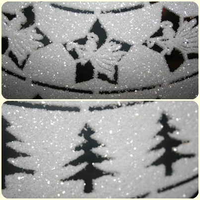 Bolas blanca de arbol navidad