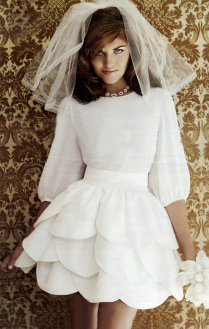 Vestidos cortos novia vintage