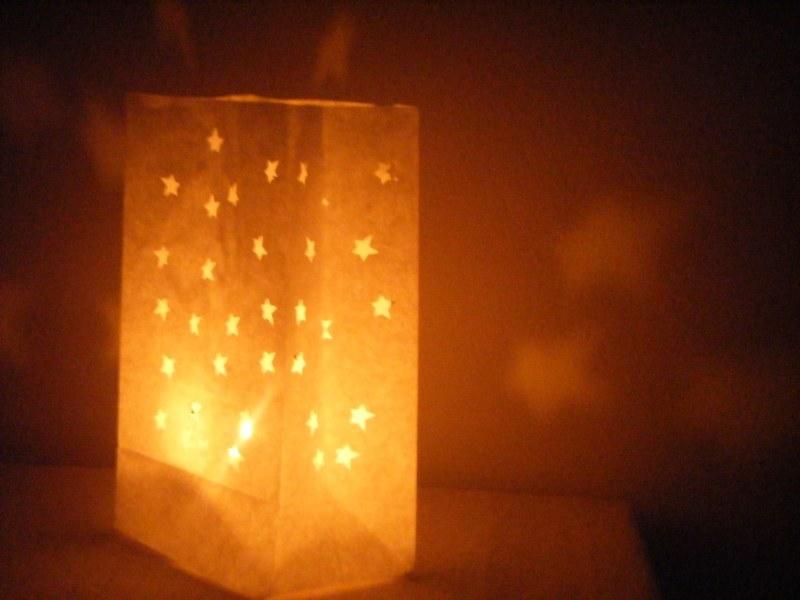 Bolsas de papel y velas en bodas de tarde - Bolsas de papel para velas ...