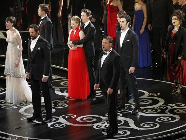 El elenco de la película Los Miserables realizó una puesta en escena impecalble.