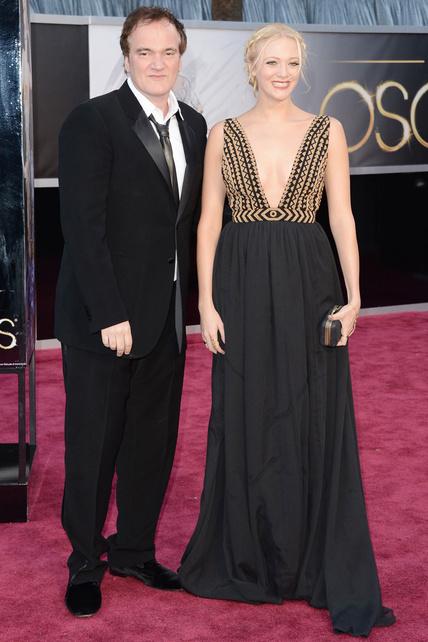 Quentin Tarantino, acompañado por su chica, Lianne Spiderbaby, que también lució escotazo.