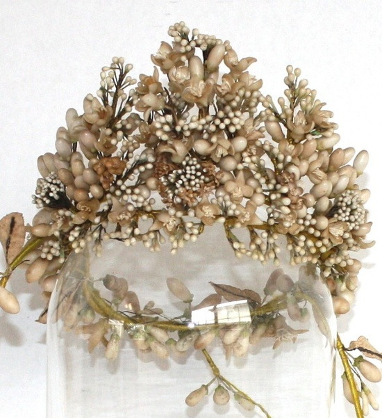 Tiara bucólica de 1880 con azahares