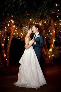 iluminación boda jardín