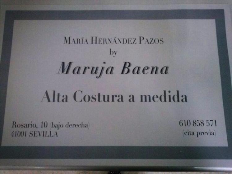 María Hernández Pazos By Maruja Baena - Alta Costura a medida