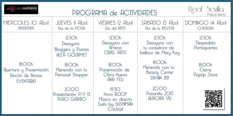 Programa de Actividades Roof Sevilla Pop Store