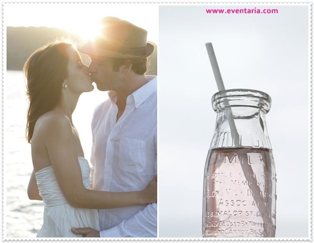 bay-cottage-wedding-lake-mountains-glass-milk-bottles