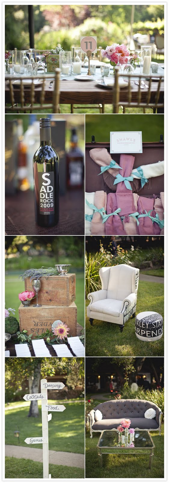 ideas para decorar boda aire libre vintage chic