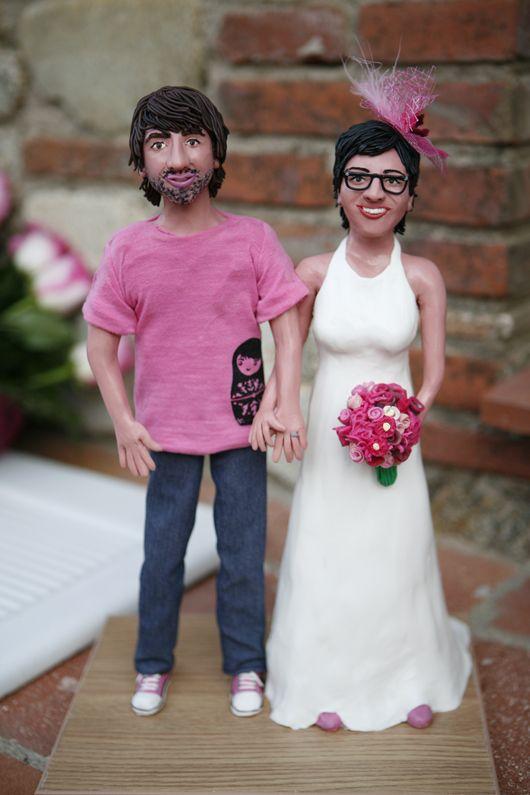 ¡LOVE! Las figura de novios personalizados en plastilina de Maria Fort García