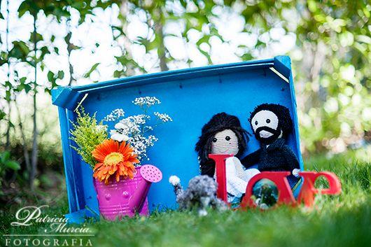 Novios amigurumi tejidos por la propia novia {Foto, Patricia Murcia}