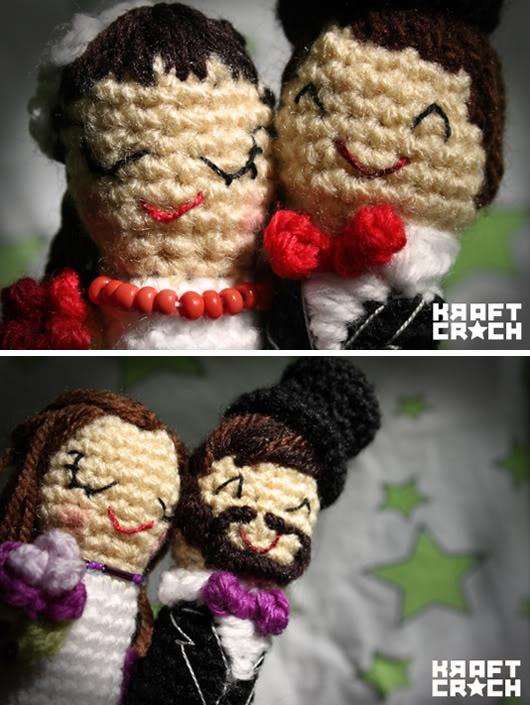 We love... las figuras de novios en croché de @Marisa McClellan kraftcroch
