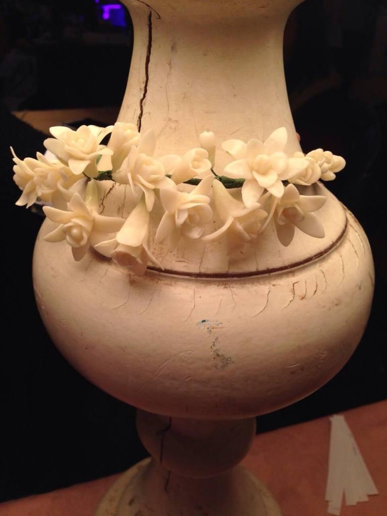 corona flores novia originales