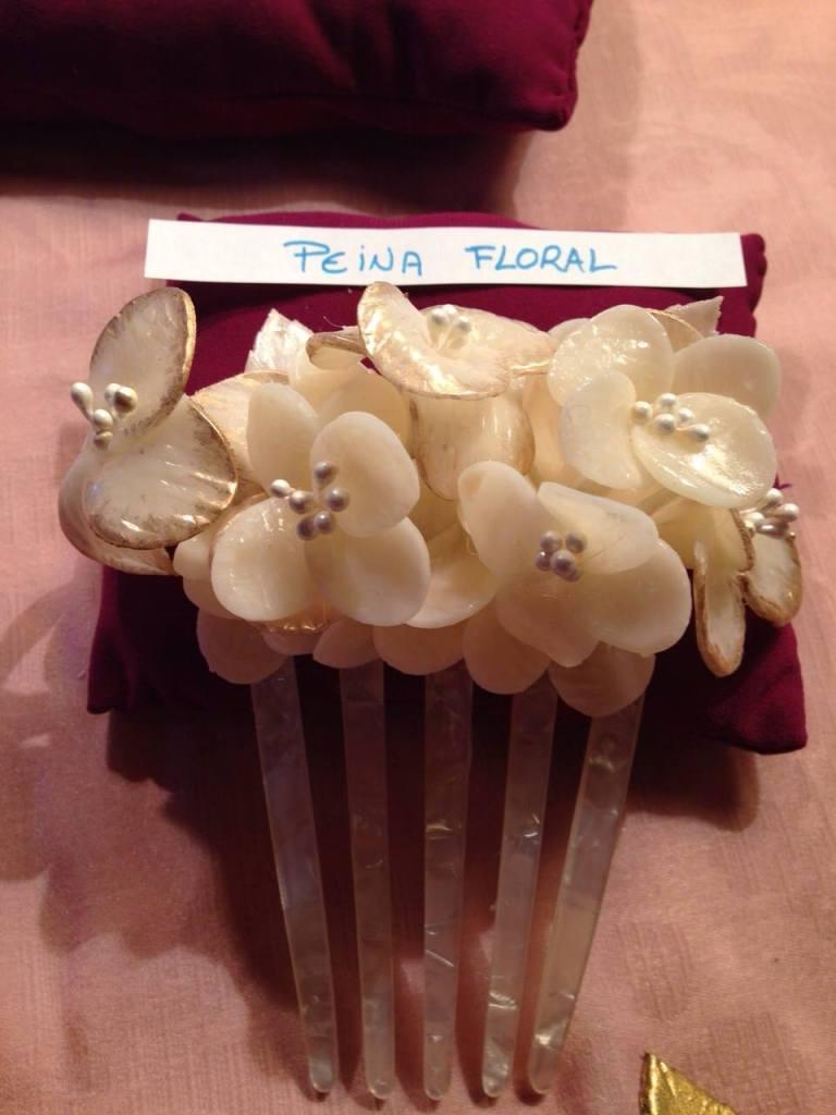 peina flores novia