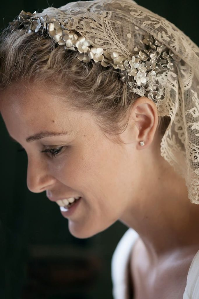 tocado novia guapa