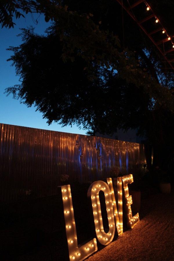 letras luminosas bodas