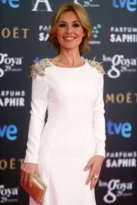 Spanish actress and tv presenter Cayetana Guillen Cuervo poses on the red carpet before the Spanish Film Academy's Goya Awards ceremony in Madrid