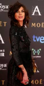 Spanish actress Natalia Tena poses on the red carpet before the Spanish Film Academy's Goya Awards ceremony in Madrid