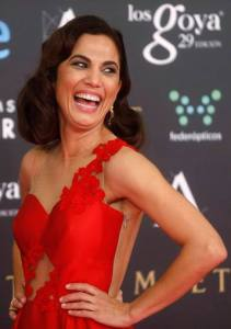 Spanish actress Toni Acosta poses on the red carpet before the Spanish Film Academy's Goya Awards ceremony in Madrid