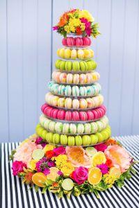macarrons colores vivos boda