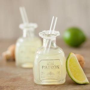 Two-sip margarita shots in miniature tequila bottles #drinks #alcohol #cocktails such cute draaaankssss!