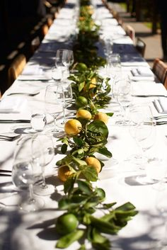 limón centro de mesa