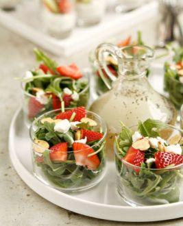 Mini ensalada con fresas