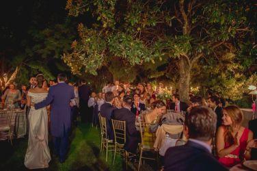 Cena boda en jardín