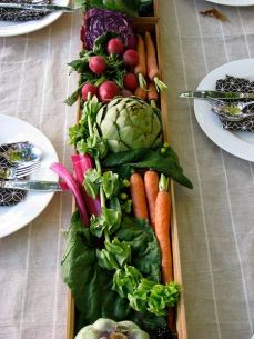 Centro de mesa verduras