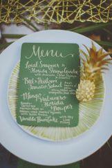 menu wedding