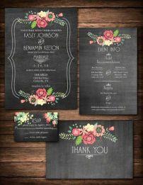 papelería boda negra